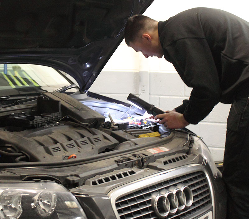 Audi being serviced