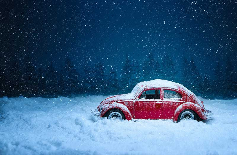 driving with snow on your car